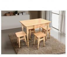 КОМПЛЕКТ кухонный Стол+4 табурета 900*600 Бук