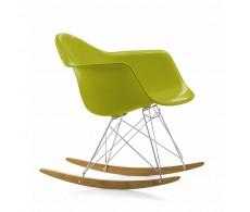 Кресло-качалка ТАУЭР R, полозья бук, пластик зеленый