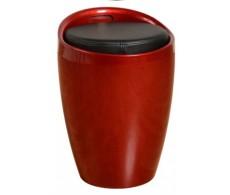 Пуф Мари пластик красный, подушка кожзам