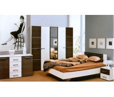 Спальня КРУИЗ (гарнитур) СМ шкаф пятидверный с кроватью 1.6х2.0 и матрасом